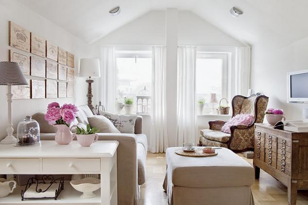 obývací pokoj v provence