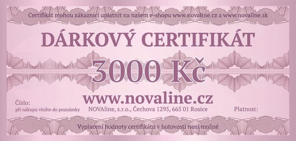 Dárkový certifikát 3000 Kč