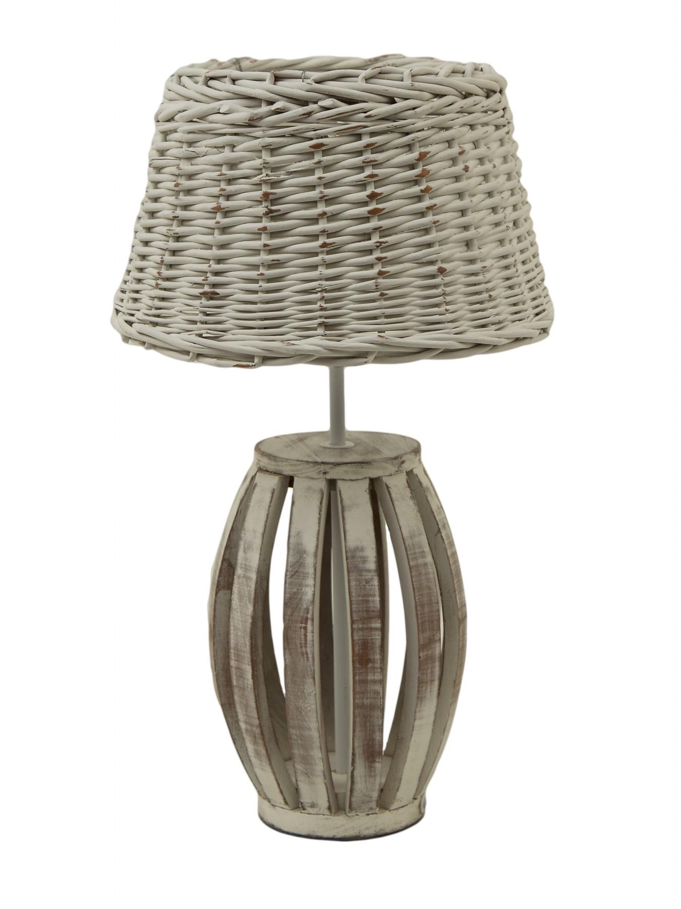proutěná stolní lampa