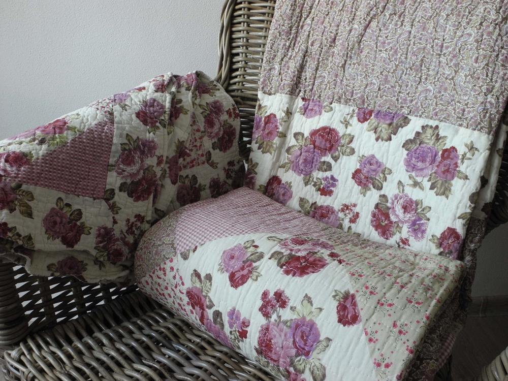 Přehoz na postel patchwork Růžová zahrada 230x250cm