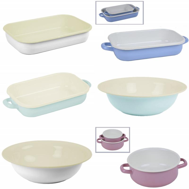 Smaltované nádobí modré