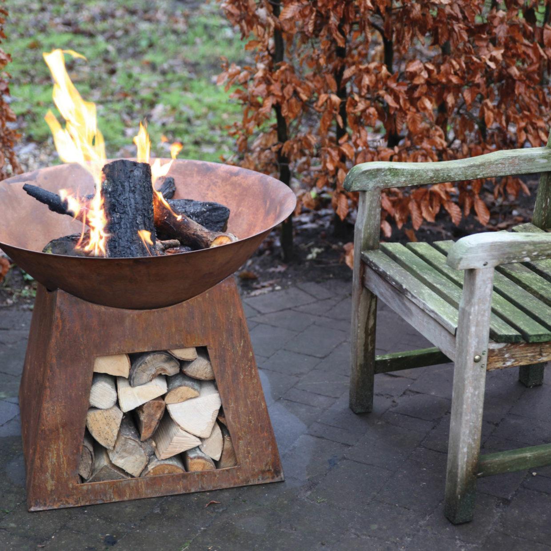 přenosné venkovní zahradní ohnoště
