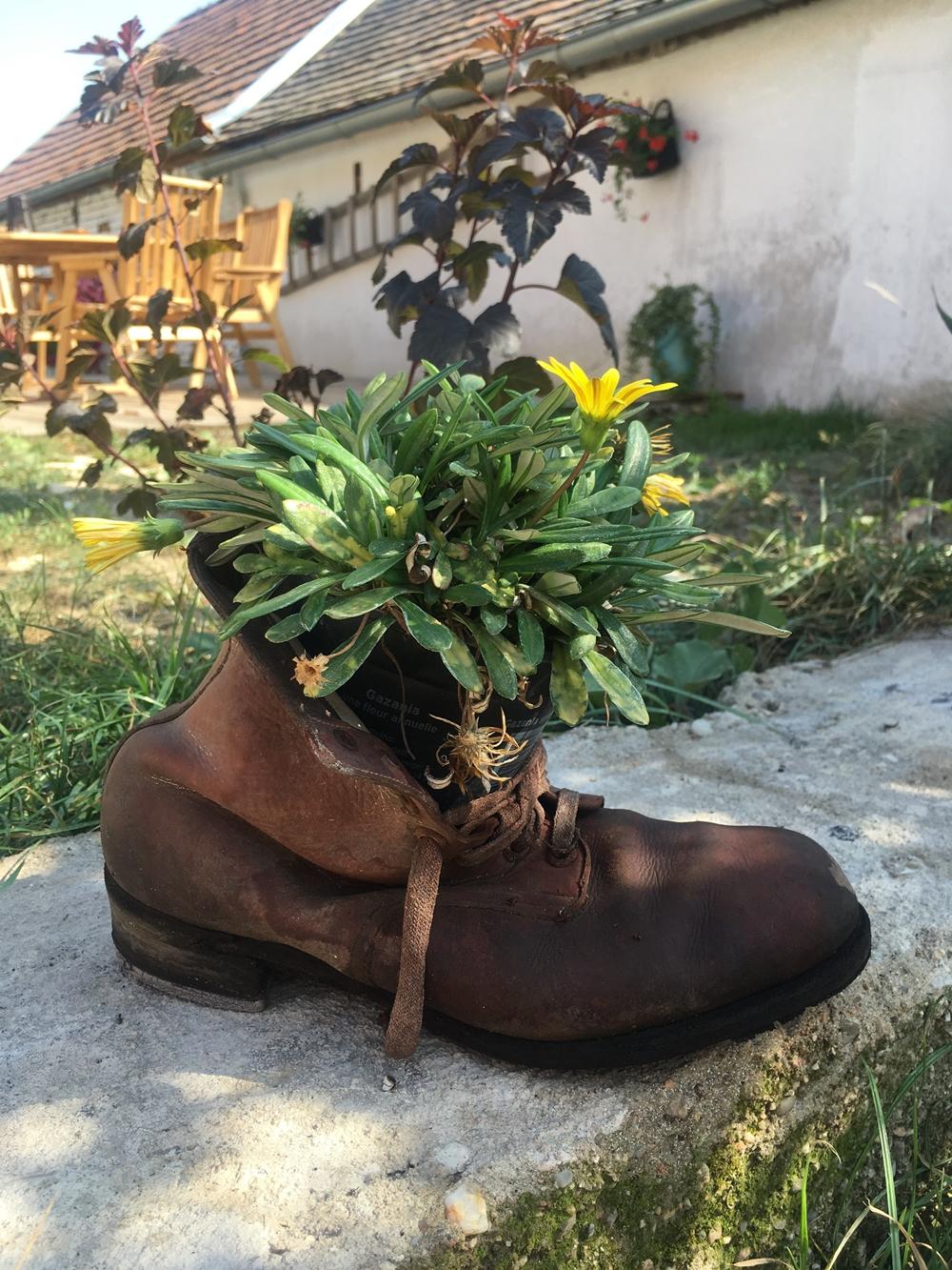 zahradní dekorace bota