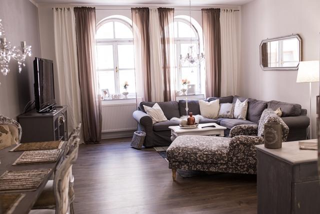proměna obývacího pokoje ve francouzském stylu