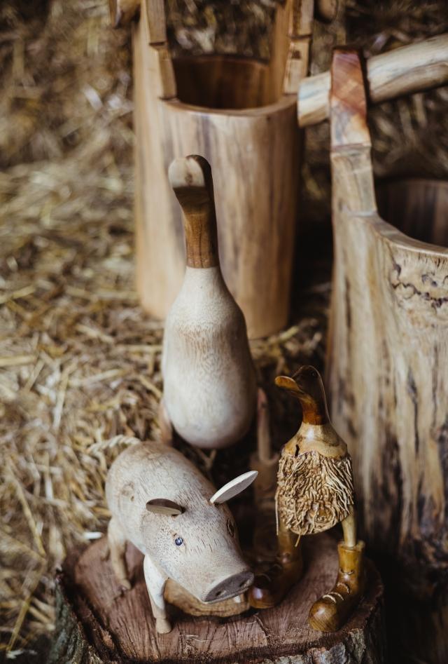 dřevěná zahradní dekorace