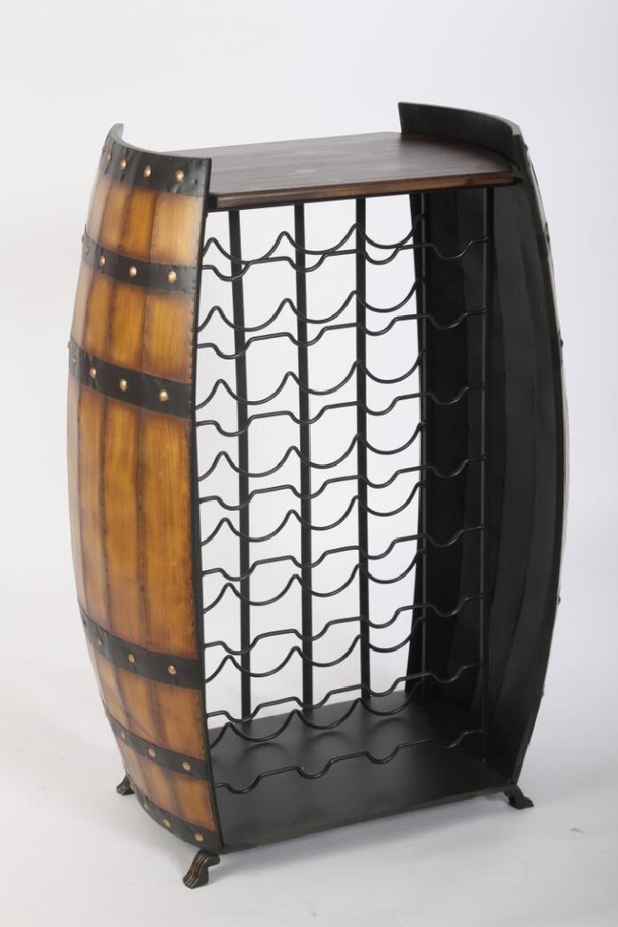 dřevěná vinotéka sud