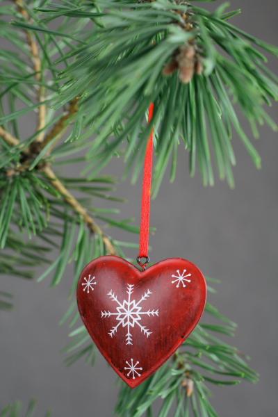 Vánoční dekorace srdce z lásky
