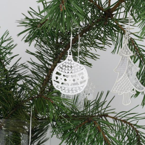 Vánoční dekorace krajkové ozdoby