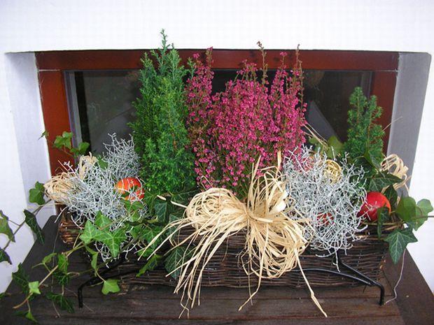 Podzimní dekorace do truhlíků