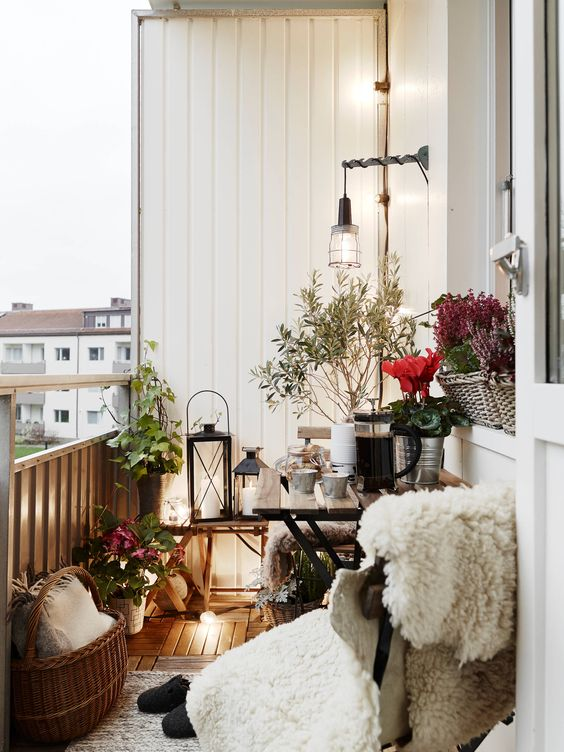 Dekorace na balkón