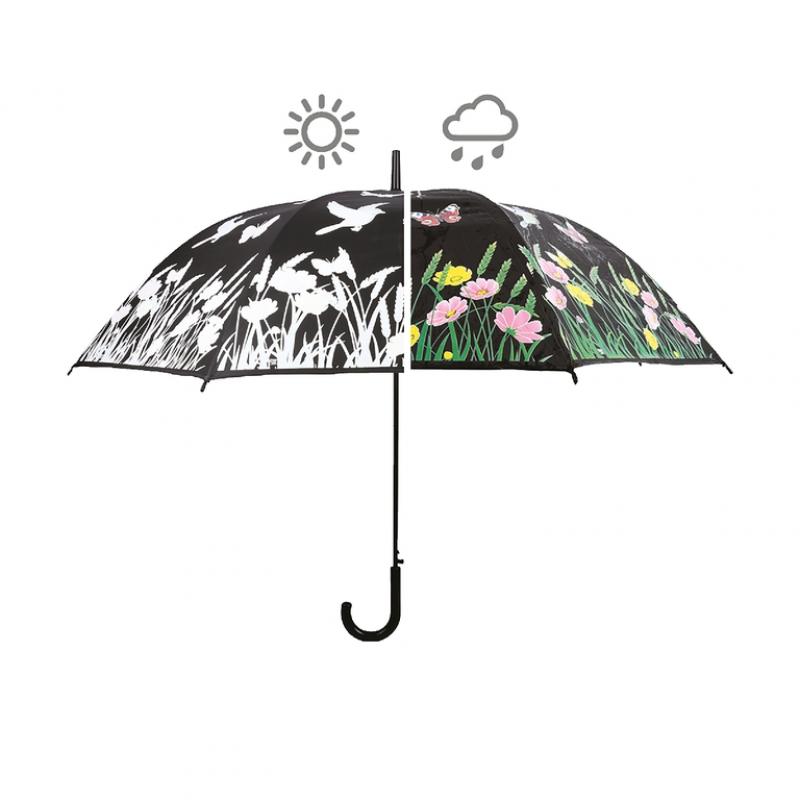 Deštník měnící barvu