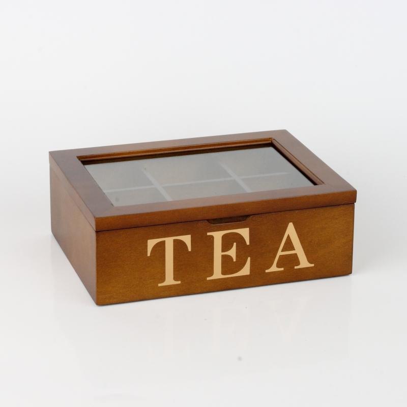 dřevěná krabička na čaje