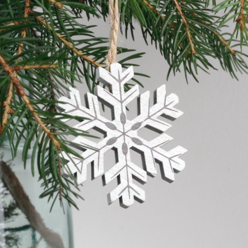 Dřevěná vánoční ozdoba