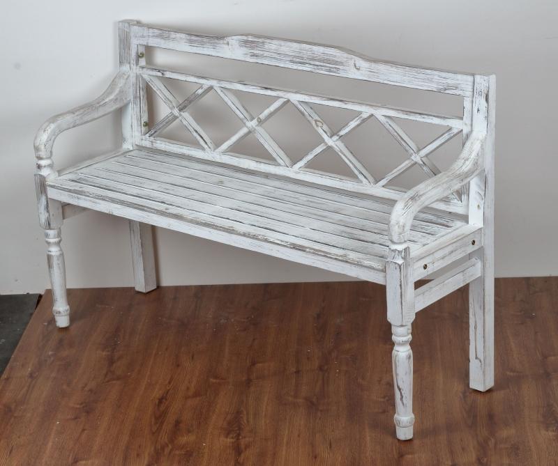 Zahradní lavice bílá