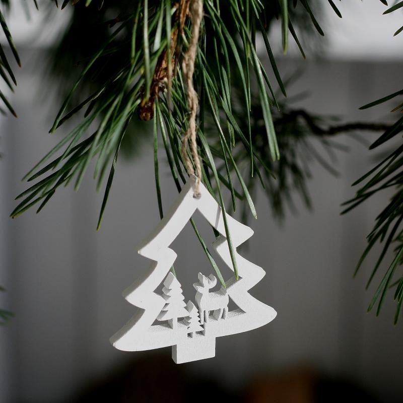 dřevěné vánoční ozdoby