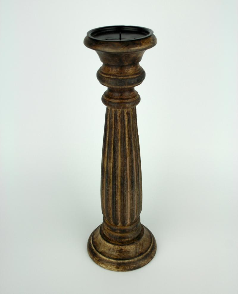 dreveny-rucne-vyrezavany-svicen-38cm-four