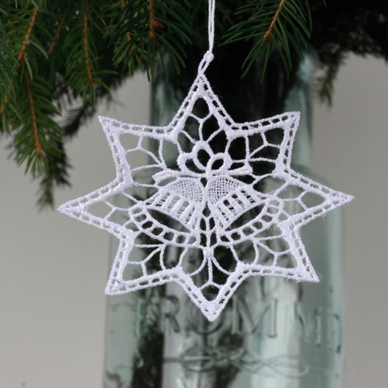 háčkované vánoční ozdoby