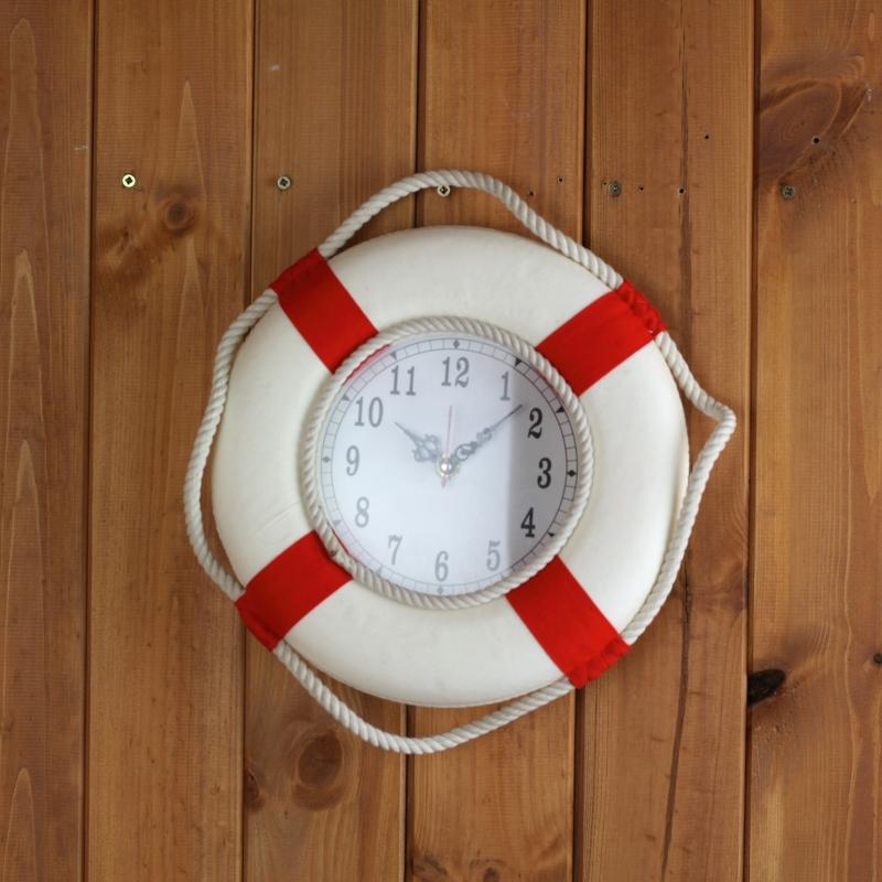 hodiny-zachranne-kolo-cervene-25cm