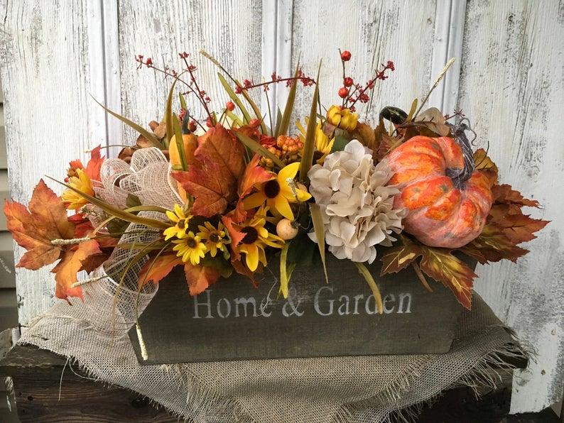 výroba podzimní dekorace