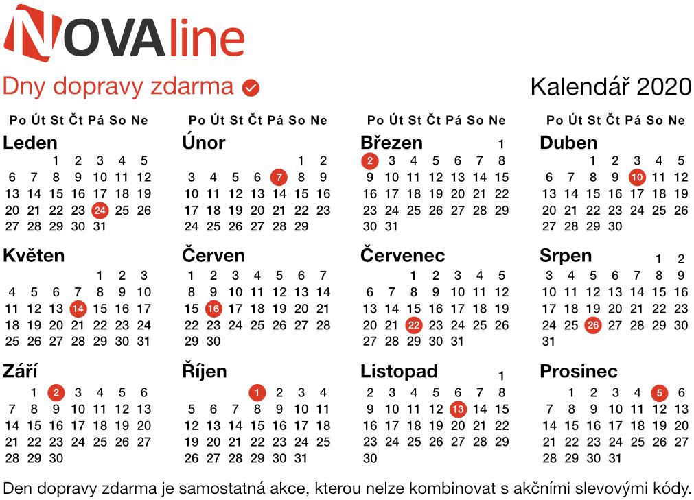 kalendář 2020 online