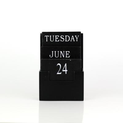 dřevěný kalendář