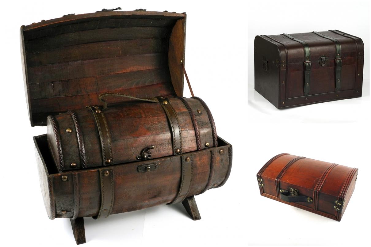 dřevěné truhly