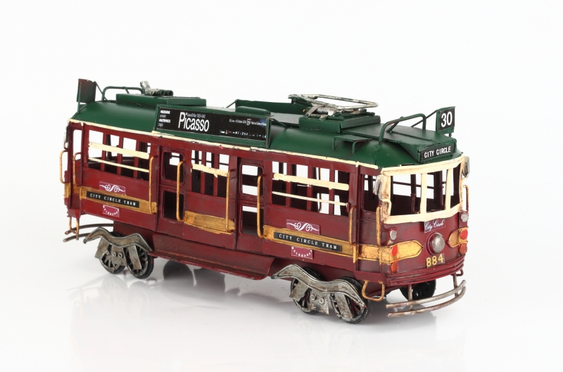 Kovový model tramvaje