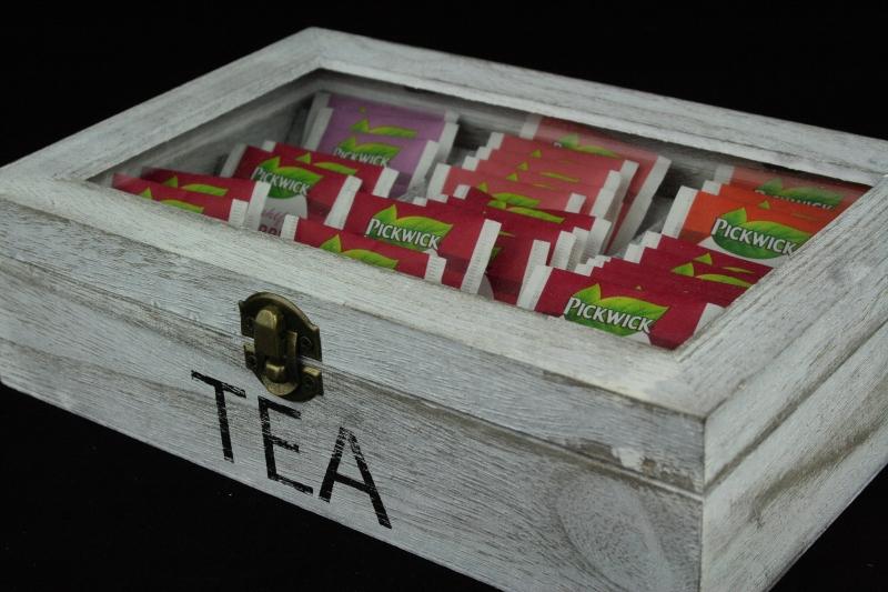 krabice na čaj dřevěná