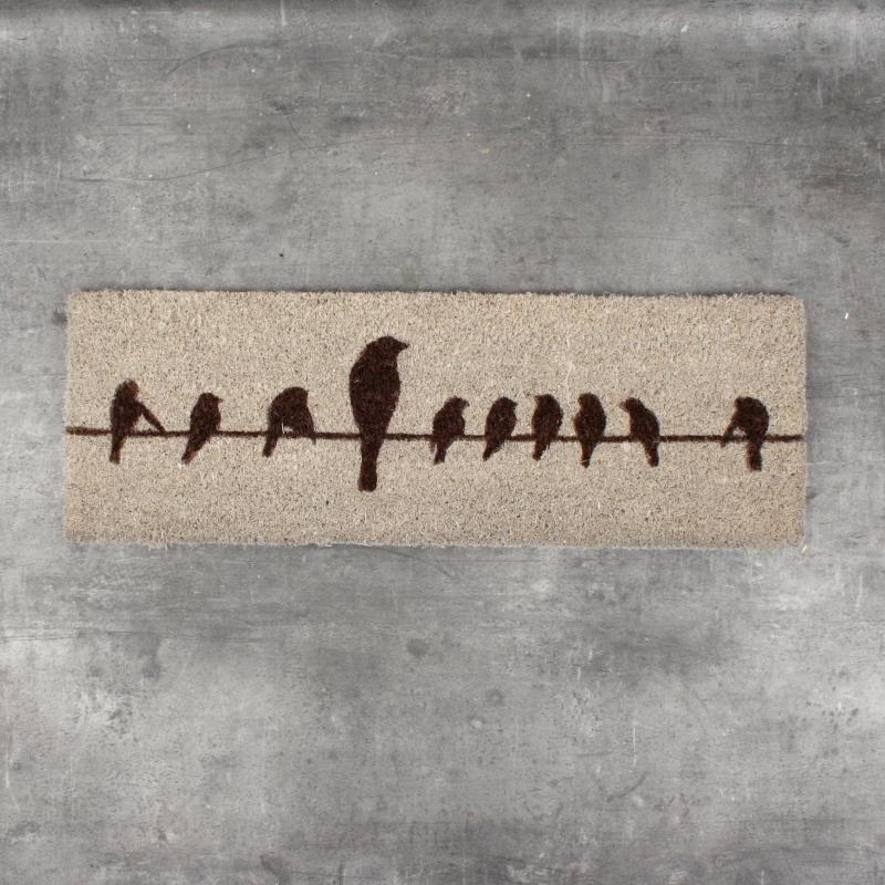 rohožka s ptáčky