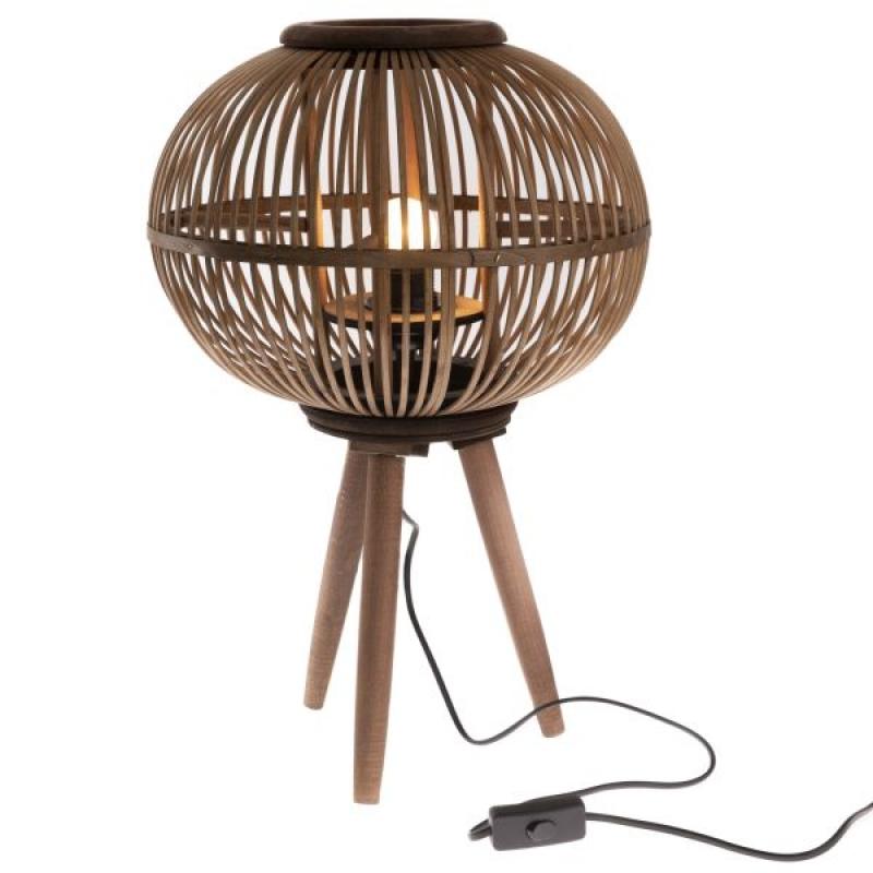 Bambusová stojací lampa