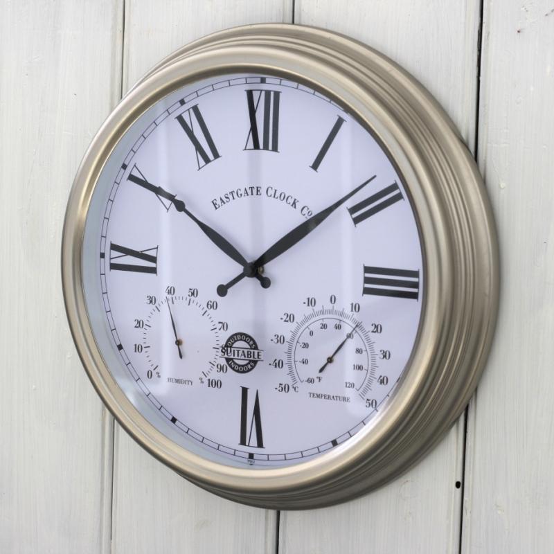 venkovní hodiny s vlhkoměrem a teploměrem