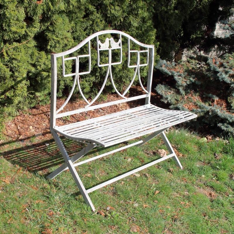 Kovová zahradní lavice