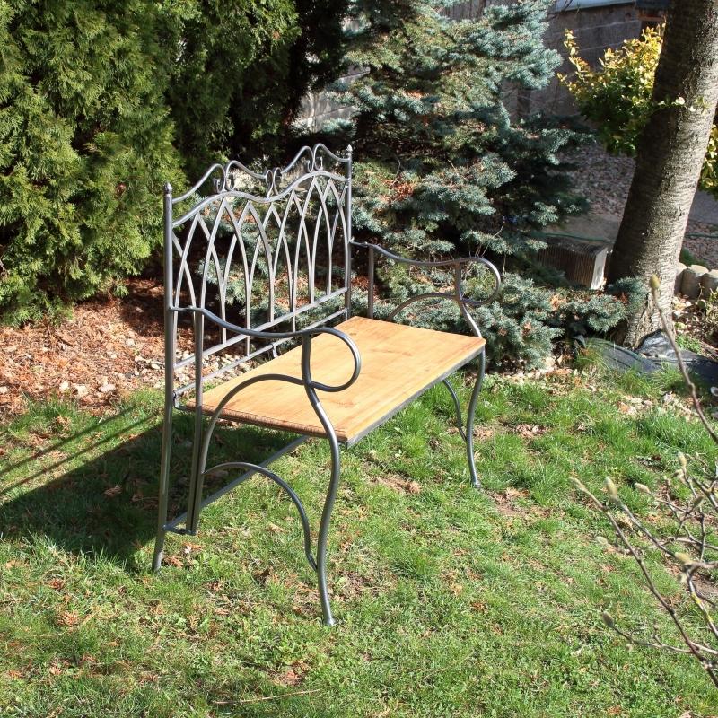 Zahradní lavička šedá