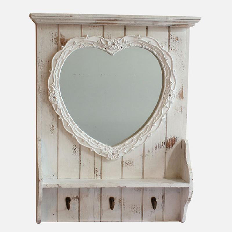 zrcadlo-s-polickou-srdce-61cm